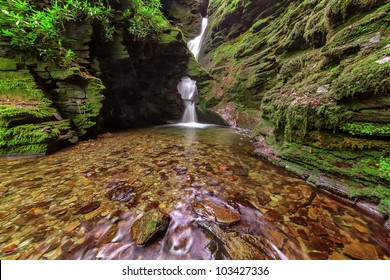 One of Cornwall�s most sacred sites.  St.Nectan�s waterfall  has been described as amongst the ten most important spiritual sites in the country. A place of outstanding natural beauty.