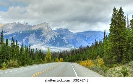 One of the most scenic roads to drive is the famous  Icefields Parkway â?? A Journey through Banff National Park and Jasper National Park. It offers spectacular sightseeing around the Rocky mountains