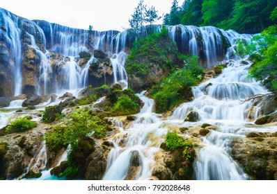 One of the most spectacular waterfalls and naturally beautiful country on the earth. Jiuzhaigou, China.