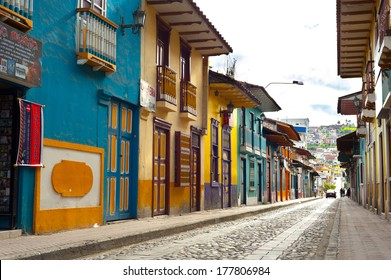 One of the nice streets in Loja, Ecuador
