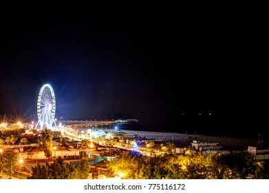 One Night Watching A Ferris Wheel Vista In Italy Europe