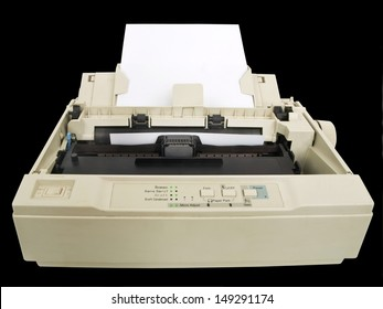 one old and dirty dot matrix printer