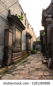 One of the old streets of Pingyao Ancient City, Shanxi province, China. Known as one of the best preserved villages of China, Pingyao is a UNESCO world Heritage site