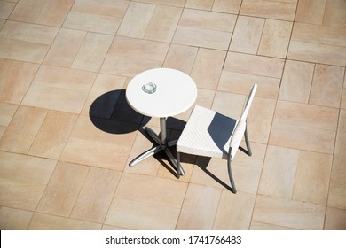 One only abandoned table and chair