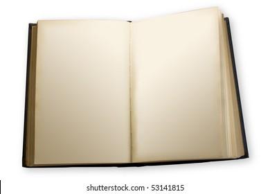 one open book empty  blank