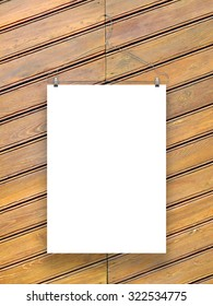 One paper sheet frame on metal coat hanger