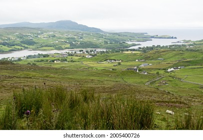 One Man's pass -The path that leads to the Pilgrims Path in Teelin , Co, Donegal, Ireland