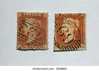 One penny stamp