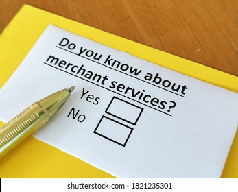 One person is answering question about merchant services.