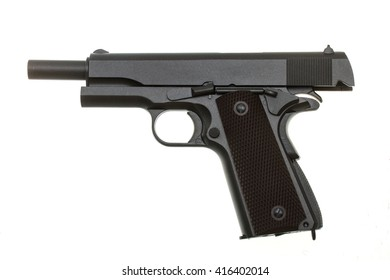one pistol colt on a white background in views