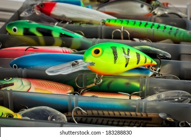 One plastic wobbler of a set of fishing lures