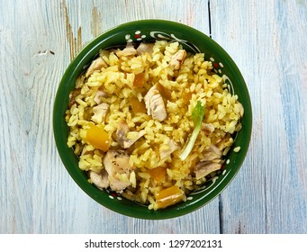 One Pot Cuban Yellow Rice with Chicken and Sausage