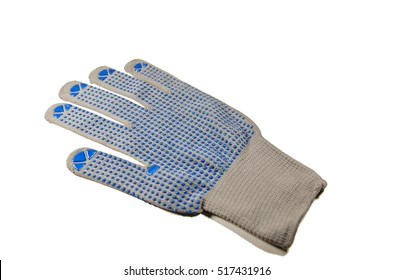 One protective glove isolated on a white background