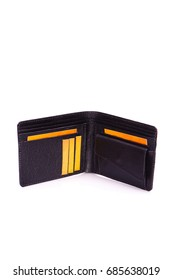 One purse,clutch genuine leather with embossing ,black brown colors,Fashionable men's accessory To store money on a white background