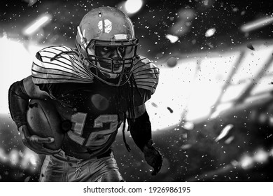 one quarterback american football player throwing ball