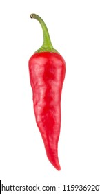 One Red hot chili pepper isolated on white background