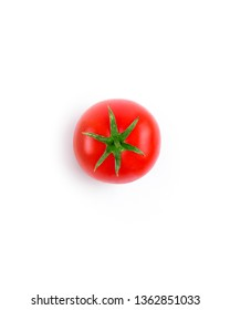 One red tomato isolated on white background. Minimalism concept.