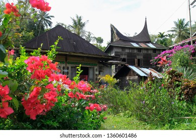 One of the resident houses with Minang architectural style that began to be rare in the most beautiful village Pariangan, West Sumatera, Indonesia.