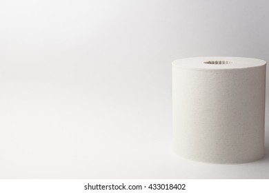 One roll of soft toilet paper isolated on white