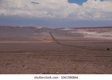 One route in the desert