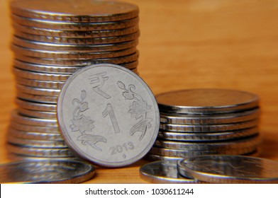 one Rupee Indian coins