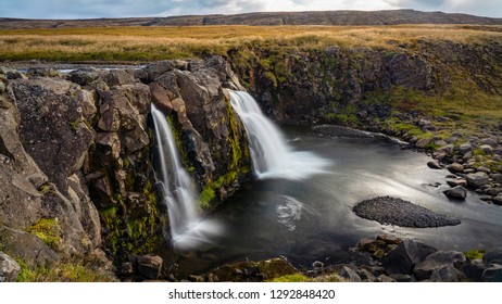 One of the scenic waterfalls at Thingvelir National Park in South Iceland.