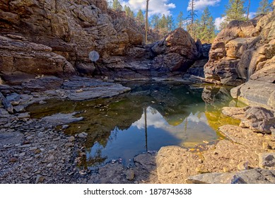 One of several natural ponds near Sycamore Falls known as the Pomeroy Tanks. Located in the Kaibab National Forest near Williams Arizona.