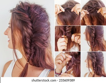 one side fishtail braid tutorial by beauty blogger