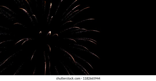 One single firework in the sky great for a background.
