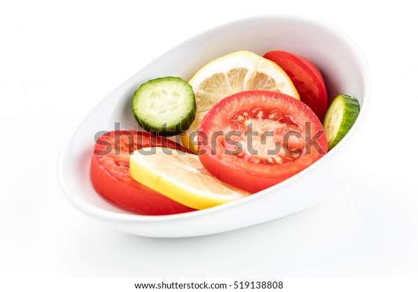Garnish bowl slanted