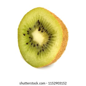one slice kiwi fruit