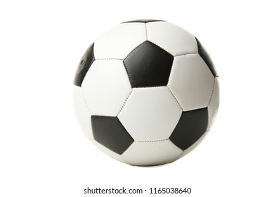 One soccer ball isolated on white. Concept sport.