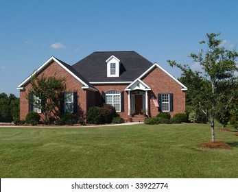 One story brick residential home.