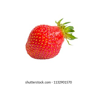 One strawberry without background for design