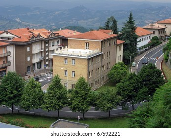 One of the streets of San Marino