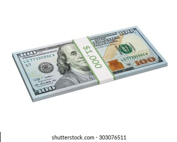 One thousand dollars in the new $100 bills