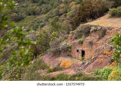 The one time home of a Guanche person on the Island of Tenerife, Spain.