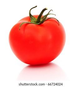 one tomato isolated