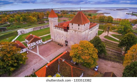 One of the tourists spots in Saaremaa Estonia. The Kuressare castle one of the medieval castles preserved in Estonia