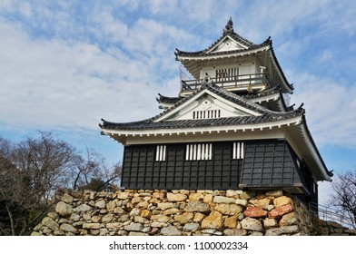 "one of traditional Japanese hill castles - Hamamatsu Castle, called ""shusse no shiro"" or success castle in Hamamatsu city,  Shizuoka prefecture, Japan"