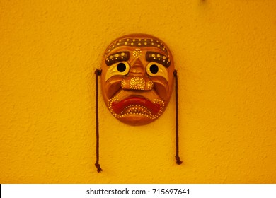 It's one of the traditional masks of Korea/Korean traditional mask