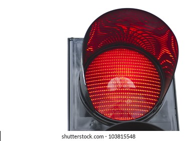 One of traffic light signal shows red light
