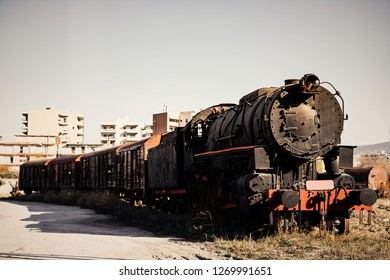 One of the trains that transferred Jews at the time of Holocaust
