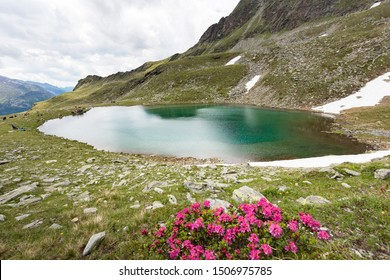 One of the two Kofler lakes in Aurina Valley in South Tyrol, Italy