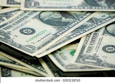 One us dolar banknotes