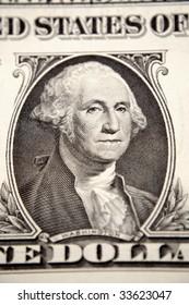 One U.S. dollar closeup