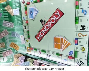 One Utama, Kuala Lumpur , September 2018 : Monopoly Board Game display for sale in store shelf.