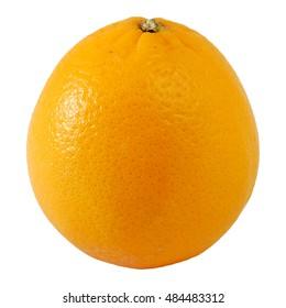 one of Valencia orange or Navel orange with white isolated  background