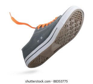 One walking shoes on white background