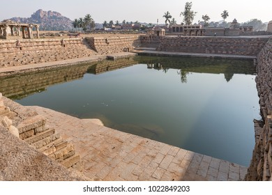one of the water tanks, Hampi, Karnataka, India